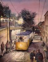 Lisbon, twilight by echowater