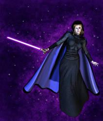 Sith w Purple Saber by RavagerOfWorlds