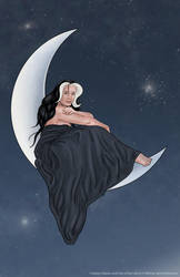 Witch on the Moon by JamieCOTC