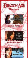 DragonAge Heroines by JamieCOTC