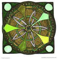 Spring Spirit Mandala by Quaddles-Roost