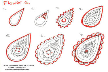 How to draw Paisley Flower 04 Promise by Quaddles-Roost