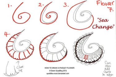 How to draw Paisley Flower 07 Sea Change by Quaddles-Roost