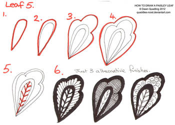 How to draw Paisley Leaf 05 by Quaddles-Roost