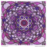Purple Rise Mandala by Quaddles-Roost
