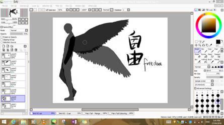 Random Bird Man - WIP by Makerra-chan