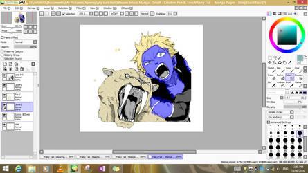Fairy Tail Manga - Sting Eucliff Sabertooth - WIP by Makerra-chan