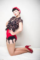 Pin up in red pants by CarrieGrr