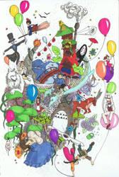 Le monde Ghibli miniature by rudy321