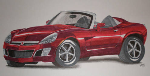 2007 Saturn Sky Red Line by PunkIn-Kitty