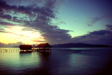 sunset in raja ampat by arvinEnugraha
