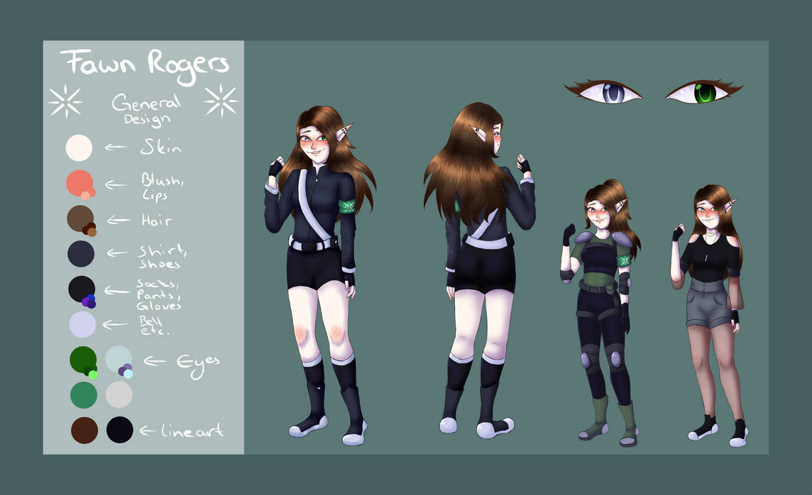 #66// Fawn Ref. Sheet by colorvamp