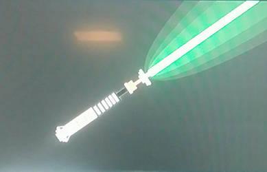 Luke Skywalker's lightsaber  by Truckersdude241