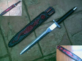 Dragon and Fire Dagger by Dragon8or