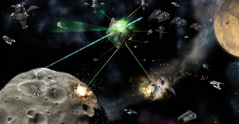 Battle at Utopia Planitia by samuelkowal906