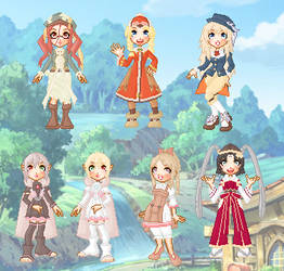 Rune Factory Frontier Doll Collection by cutepiku