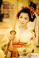 a geisha and her shinai by Setsuka07