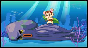 Flying Hamster by monkeyzav