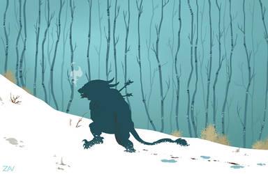 Charr in snow by monkeyzav