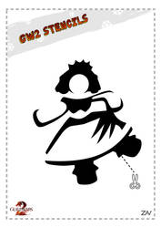 GW2 Stencil - Princess Doll by monkeyzav