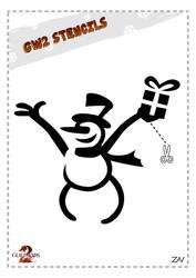 GW2 Stencil - Snowman by monkeyzav