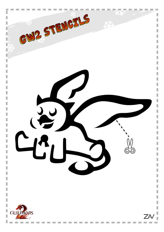 GW2 Stencil - Plush Griffon Mini by monkeyzav