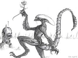 alienversuspredator by monkeyzav