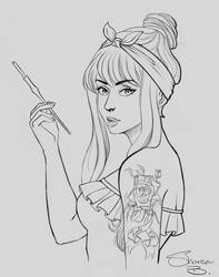 Pin -up WIP by GaleRider
