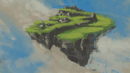Flying island by FoXik0169
