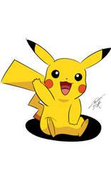 Pikachu - SketchBook Ink by DiegoSkywallker