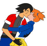 Request Ash Misty kiss by Snowdog-zic