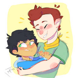 Max and David (Camp Camp) by GingerAle825