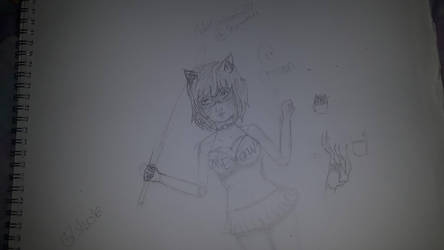 cat woman sketch  by ChibiCartoonGirl17