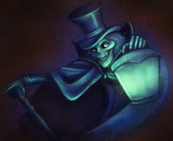 Hatbox Ghost by lightcolorsart