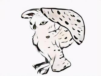 Snowy owl 2 by ApocalipsePony