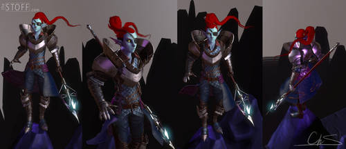 Undyne - Undertale 3D by TheStoff