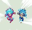 ULSW SS Blue Kaioken Goku and SSBE Vegeta - DBS by xBae12