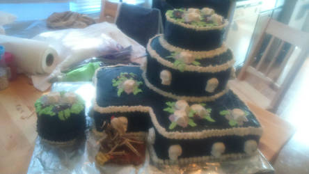 Halloween Wedding Cake by Gurhel