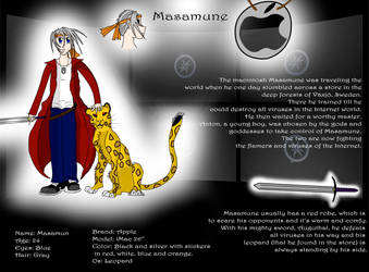 Masamune character sheet by Torayami