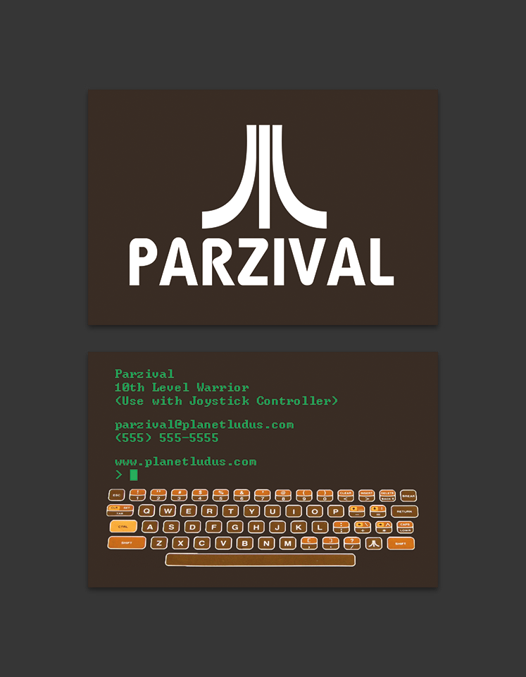 Ready Player One -  Business Card_Atari by SirMehr