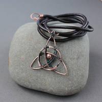 Copper pendant Triqueta by WhiteSquaw