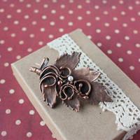 Hawthorn brooch by WhiteSquaw