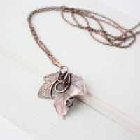 Real poplar leaf necklace by WhiteSquaw