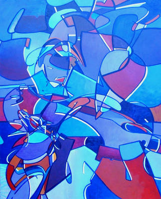 Street Art meets cubism etc by pheelix-dot-com