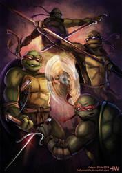 Teenage Mutant Ninja Turtles by HellyonWhite
