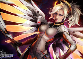 Mercy (Overwatch) by HellyonWhite