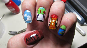 Toy Story Nails by tharesek