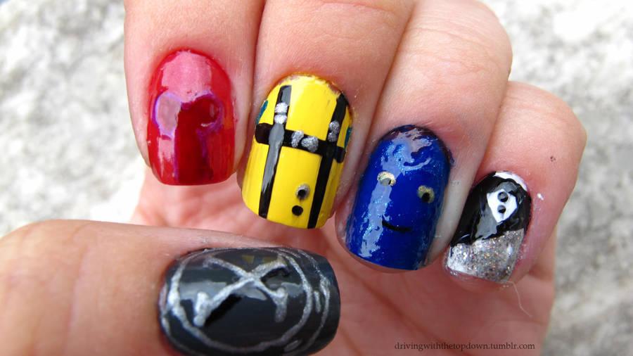 X-Men First Class Nails by tharesek