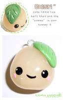 onigiri rice ball charm by cutieexplosion