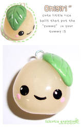 onigiri rice ball charm by cutieexplosion